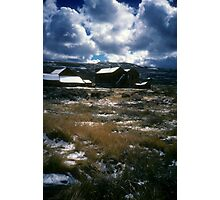 A Sea of Grass Holds Cold Truths of Bodie Photographic Print