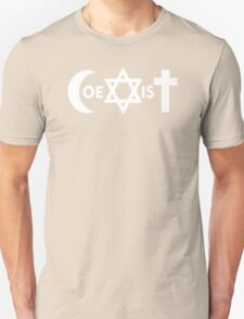 COEXIST U2 band rock Bono MUSICA T-Shirt