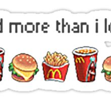 I love food Sticker