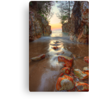 Dripstone Stepping Stones Canvas Print