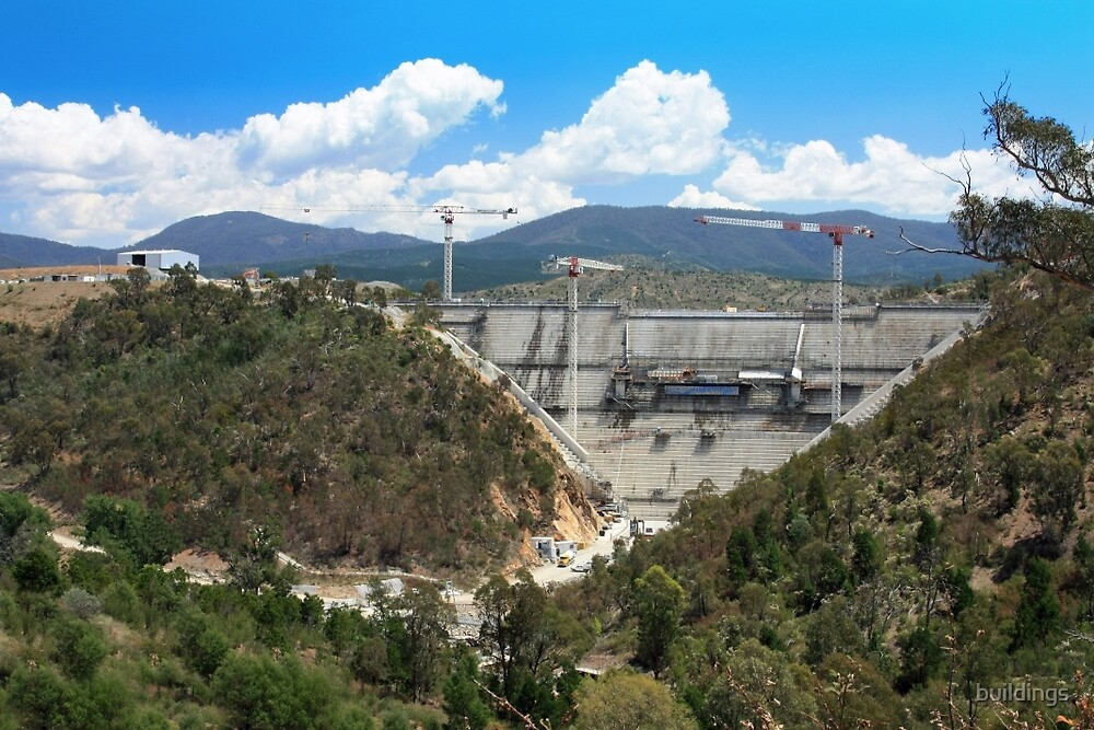 Cotter Dam Enlargement, Canberra ACT by buildings