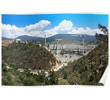 Cotter Dam Enlargement, Canberra ACT Poster