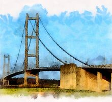 The Humber Suspension Bridge by Dennis Melling