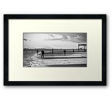 Afternoon at the Beach, Bognor Regis Framed Print