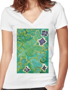 Ground Cover by Margo Humphries Women's Fitted V-Neck T-Shirt