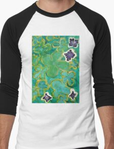 Ground Cover by Margo Humphries Men's Baseball ¾ T-Shirt