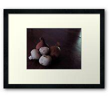 French Shallots and Mushrooms Framed Print