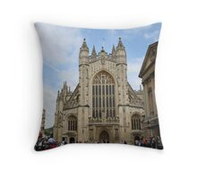 Bath Abbey Throw Pillow
