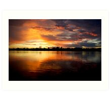 Amazon Sunset Art Print