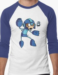 Blue Bomber Men's Baseball ¾ T-Shirt