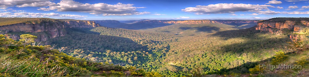 Shadows & Light - Govetts Leap, Blue Mountains, Sydney (30 Exposure HDR Panorama) - The HDR Experience by Philip Johnson