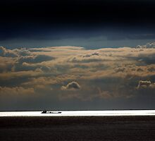 Sealight - clouds over The Wash by Richard Flint