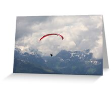 Kreuzjoch - Paragliding Greeting Card