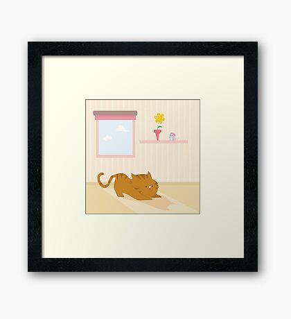 Playful cat Framed Print