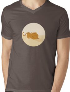 Playful cat Mens V-Neck T-Shirt