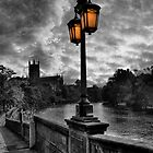 Worcester - Dusk on South Parade by David Jacks