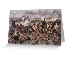 World War 1 - The Battle of Ypres by Richard Jack Greeting Card