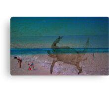 Three Layered Beach Canvas Print