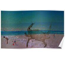 Three Layered Beach Poster