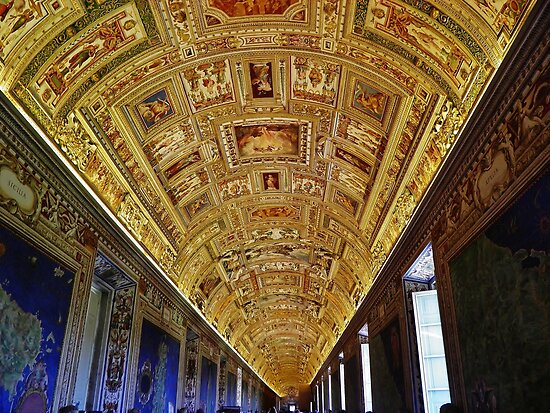 Vatican Room of Maps Ceiling by Stephen Burke