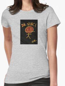 DA VINCI STICKMAN Womens Fitted T-Shirt