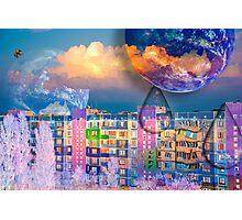 Photo manipulation surreal art : animals, sky, clouds Photographic Print