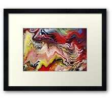 Abstract Acrylic Fluid Effects Framed Print