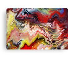 Abstract Acrylic Fluid Effects Canvas Print
