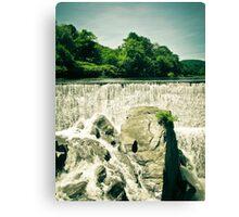 Waterfall - Ottauquechee River Canvas Print
