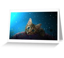 Spacey Kitty Greeting Card