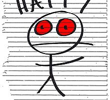 HAPPY STICKMAN (WHITE) by squigglemonkey