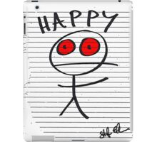 HAPPY STICKMAN (WHITE) iPad Case/Skin