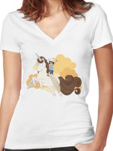 Espresso Tina Women's Fitted V-Neck T-Shirt