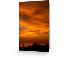 Borneo Sunset Greeting Card