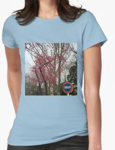 Spring Cherry Blossoms Womens Fitted T-Shirt