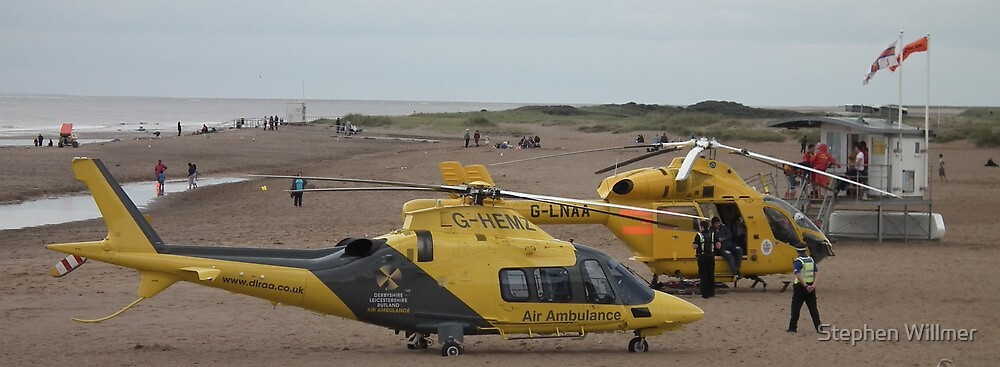 Air Ambulances - Skegness Beach by Stephen Willmer