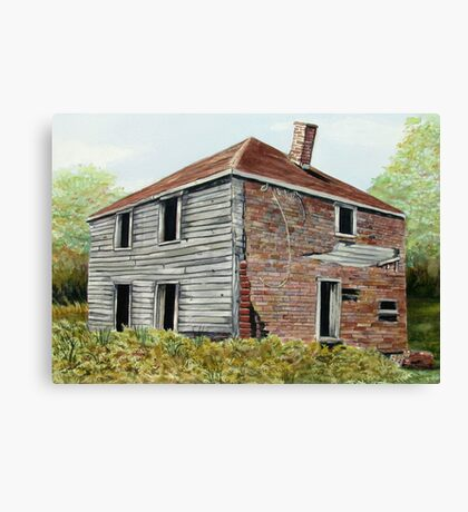 The Dahl House - Ghost Town of Jackfish Ontario Canada  Canvas Print