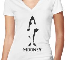 Mooney Women's Fitted V-Neck T-Shirt