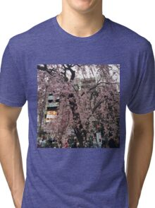 Cherry Blossoms Sakura  Tri-blend T-Shirt