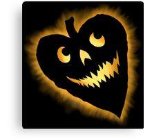 Halloween Heart Canvas Print