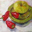 Apple and Chillies by Elizabeth Whiteman