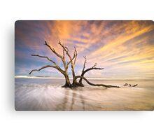 The Calm - Folly Beach at Sunset - Charleston, SC, USA Canvas Print