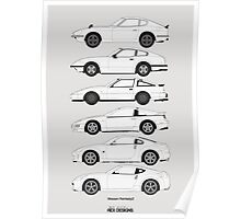 Nissan Fairlady Z History Poster