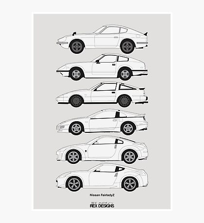 Nissan Fairlady Z History Photographic Print