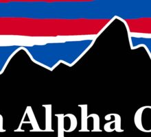 Sigma Alpha Omega Red White and Blue Sticker
