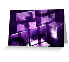 All Wrapped In Purple Greeting Card