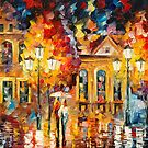 NIGHT SHINE- original oil painting on canvas by Leonid Afremov by Leonid  Afremov