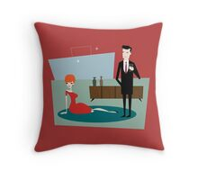 Mad Draper Throw Pillow