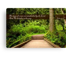 Steps of a Righteous Man (Card) Canvas Print
