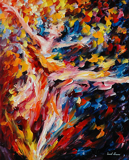 WHIRLWIND DANCE - original oil painting on canvas by Leonid Afremov by Leonid  Afremov